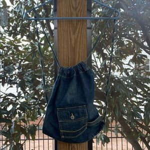 EUC Old Navy drawstring backpack denim bag